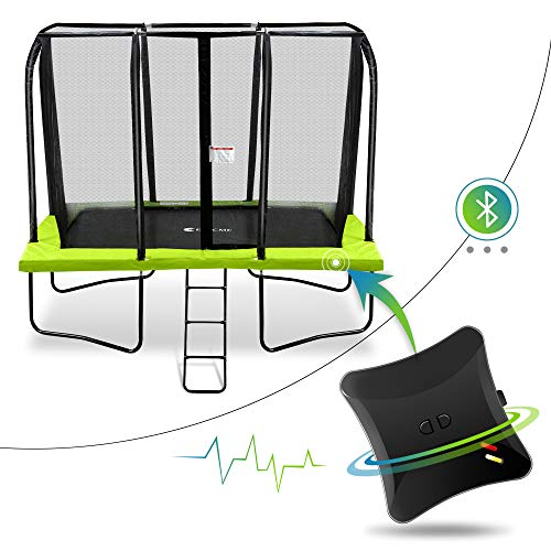 Welovejump Rectangle 7 x 10 Foot Smart Trampoline with Safety Enclousre Net, Green Pad, Ladder and Energy Jumping...