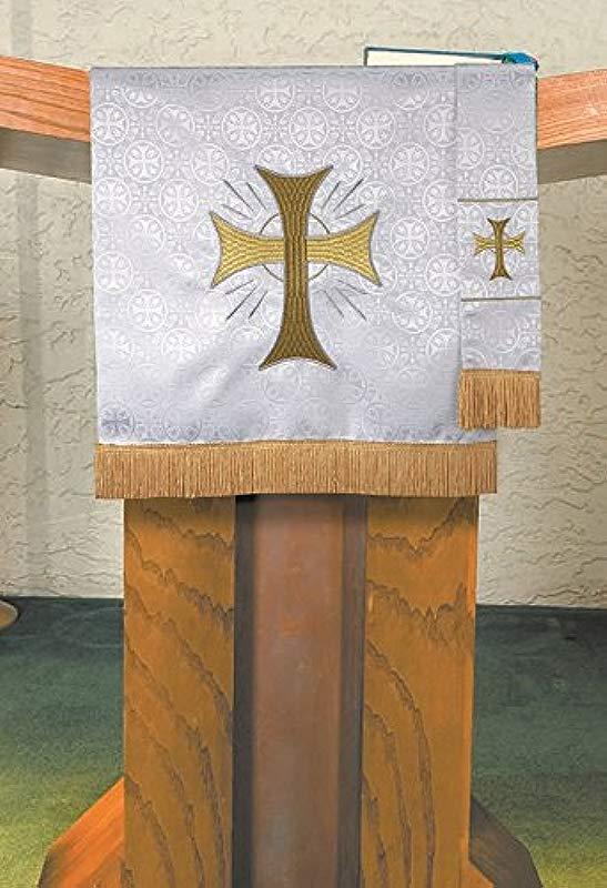 Maltese Jacquard Pulpit Scarf White