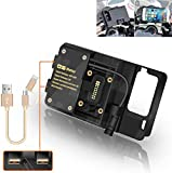 R&P for BMW R1200GS Mobile Phone Navigation Bracket ADV F700 800GS CRF1000L Africa Twin for Honda Motorcycle USB Charging 12MM Mount