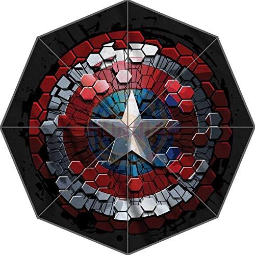 NJSDDB paraplu Captain America Aangepaste Leuke Nieuwe Beste Ontwerp Draagbare Mode Stijlvolle Handige Opvouwbare Paraplu Goede Gift Idea!, Lichtgeel
