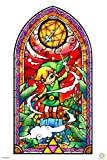 Pyramid America Legend of Zelda Stained Glass Wind Waker Video Game Gaming Cool Wall Decor Art Print Poster 12x18