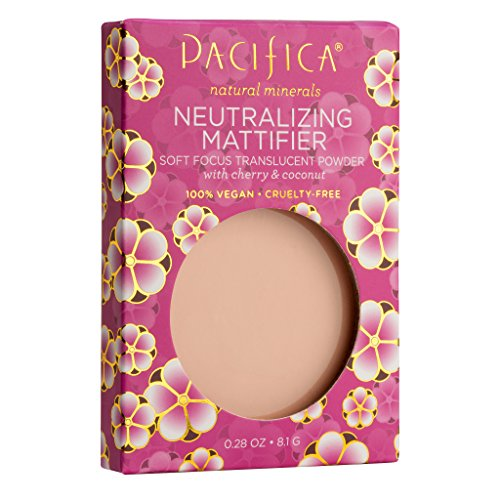 Pacifica Beauty Neutralizing Mattifier Cherry Powder, Natural Minerals for All Skin Types, Vegan & Cruelty Free, 0.28 Ounce