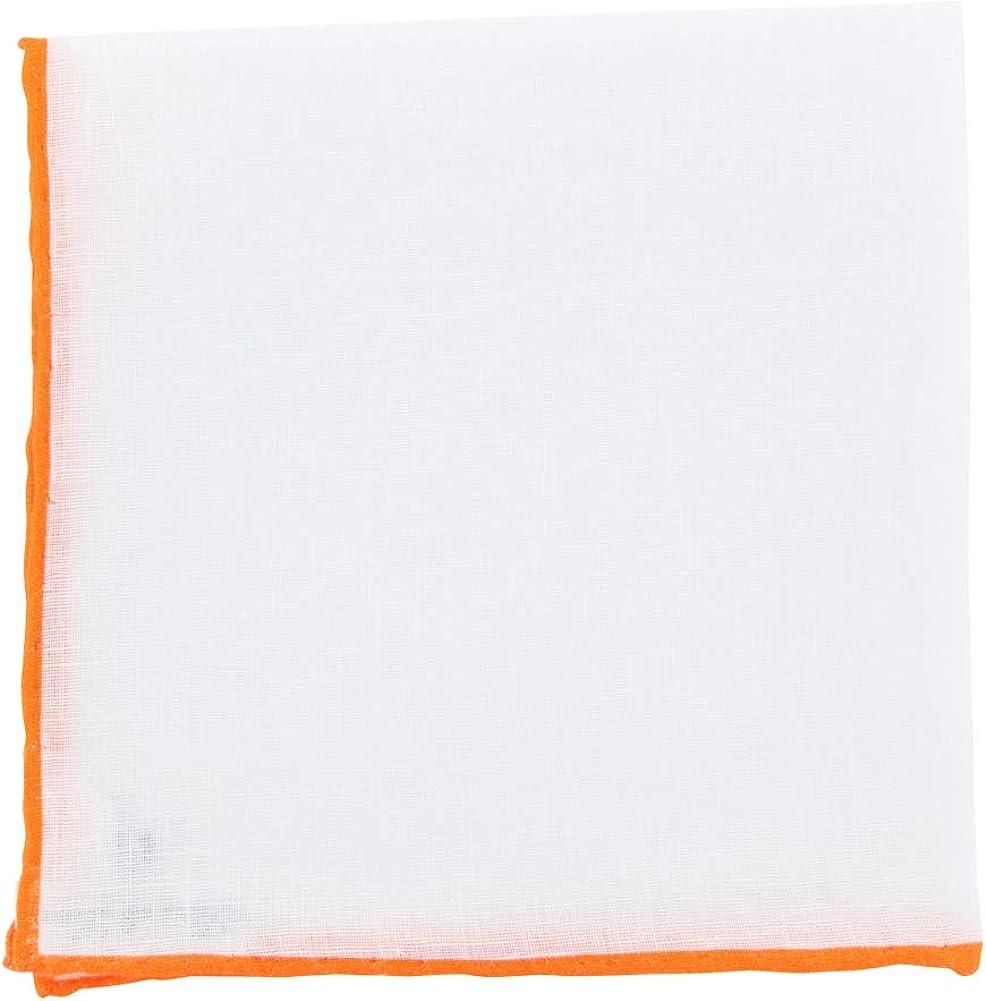 New Fiori Di Lusso White Geometric Pocket Square - x