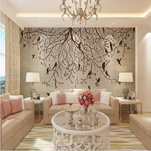 Wuyii Grote lampenkap, retro-design, nostalgische kerstboom, tv-achtergrond, voor slaapkamer, woonkamer 120 x 100 cm.