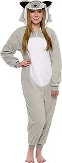 Slim Fit Animal Pajamas - Adult One Piece Cosplay Wolf Costume