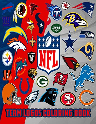NFL team logos coloring book: NFL Clubs logos coloring book for kids and adults