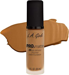 LA Girl PRO.mattte HD.high-definition long wear matte foundation (GLM681 Caramel)