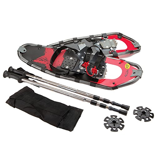 ThunderBay Lightweight Aluminum-Alloy Large Adult Snowshoes and Poles