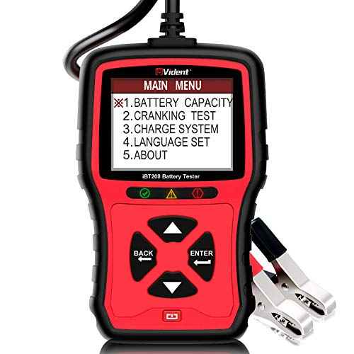 VIDENT iBT200 9V-36V Batterietester Für 12V Pkw und 24V schwere Lastkraftwagen 100 bis 2000CCA Fahrzeugbatterieanalysator