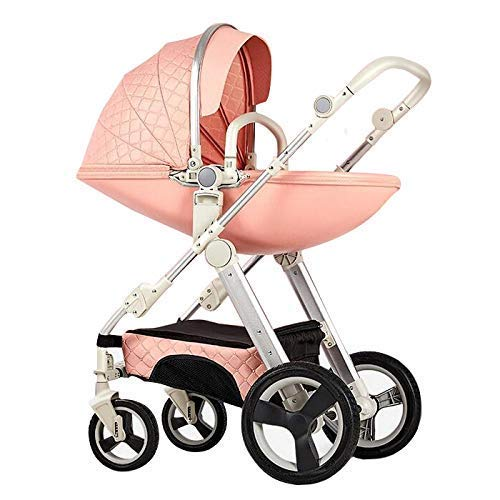Fantastic Deal! High Landscape Eggshell Baby Stroller 3 in 1 Can Sit Down Two-Way Stroller with Baby...