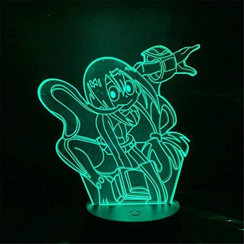 My Hero Academia Asui Tsuyu Anime Figura 3D LED Novelty Table Lamp Decor Toys for Children Lighting Night Light Kids Gifts Birthday gifts for Children