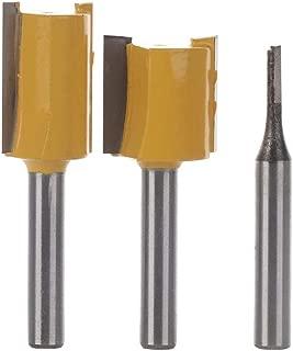 Zebery 3pcs 1/4 Inch Shank Undersize Plywood Dado Router Bit Set Woodworking Cutter