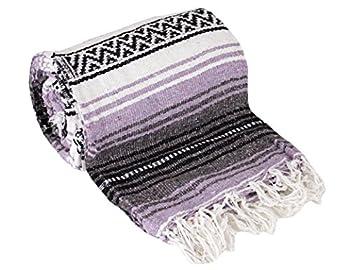 Canyon Creek Authentic Mexican Yoga Falsa Blanket  Light Purple