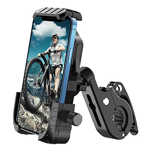 Aerb Soporte Móvil Bicicleta, Soporte Móvil Moto: Soporte para Teléfono en Bicicleta para iPhone 12 Mini, 12 Pro Max, 11 Pro, Pro Max Xs 8 X 8P 7P 6S, Samsung, Huawei, Todos los Dispositivos 4.7-6.8