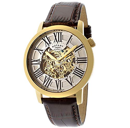 Rotary Herren Uhr Automatik Mit Leder Armband GLE000013/21S