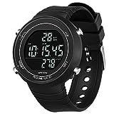 AMOOTEK Sport Watch Pedometer, Digital Watch with Pedometer Waterproof Digital Sport Watch Pedometer for Walking, Running and Hiking