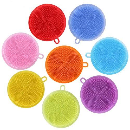 5er Set PV Silikon Schwamm Pack verschiedene Farben hygienisch Schwämme Reinigung Bürste antibakteriell
