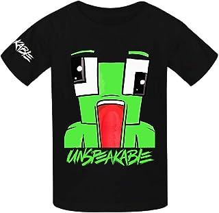 MY-Fish Black Raglan T-Shirts Short Sleeve 9 3 4 1 Sports Sweat Tee for Kids Boys Girls