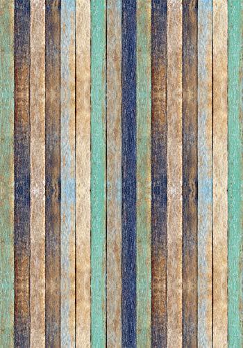 Deco&Fun - Alfombra Vinílica Texture Colorwood Verde 140x200cm - Alfombra PVC Alfombra vinílica Cocina- Alfombra vinílica salón - Alfombras de Vinilo
