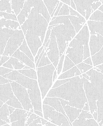 Graham & Brown 33-274 Innocence Grey Wallpaper, Gray