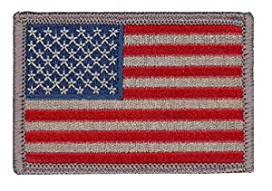 Titan One Europe - USA United States Flag Subdued Silver American Flag Patch (Tactical)