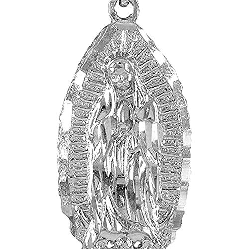 chaosong shop Joyería religiosa 925 Medalla milagrosa Nuestra Señora de Guadalupe Colgante