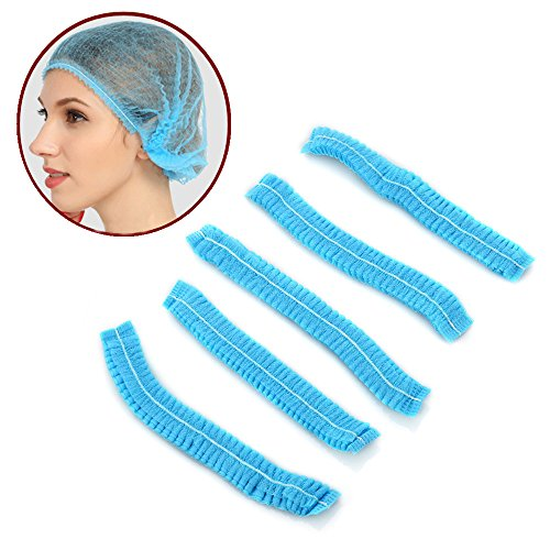 Disposable Caps, Non-dust Elastic Mesh Disposable Hat used for Tattoo, Bath, Spa, Beauty salon, Food Industry, laboratory (200PCS)