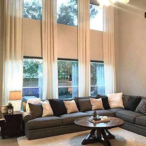 Ikiriska Extra Long Popular standard Luxury Solid Custom Curtain 8-24 New arrival Linen Made