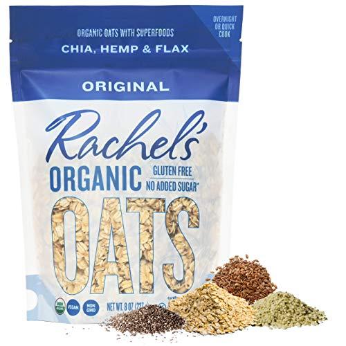 Rachel's Organic Oats | Original | Make Overnight or Hot | Organic Gluten Free Oats + Organic Chia + Organic Hempseed + Organic Flaxseed Meal(Original)