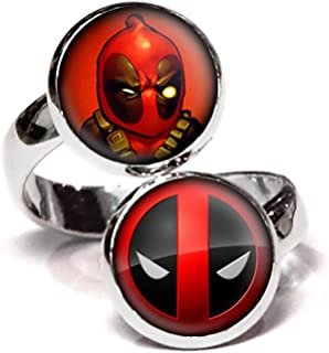 Deadpool Ring, X-Men Jewelry, The Avengers Pendant, Deadpool Earrings, Marvel Jewelry, Justice League Necklace, Birthday Gift Set
