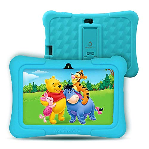 Dragon Touch Y88X Pro 7 inch Kids Tablet Android 9.0, 2GB RAM (Support 128GB SD Card), Kidoz Pre-Installed with All-New Disney Content WiFi Only - 2019 New Model - Blue