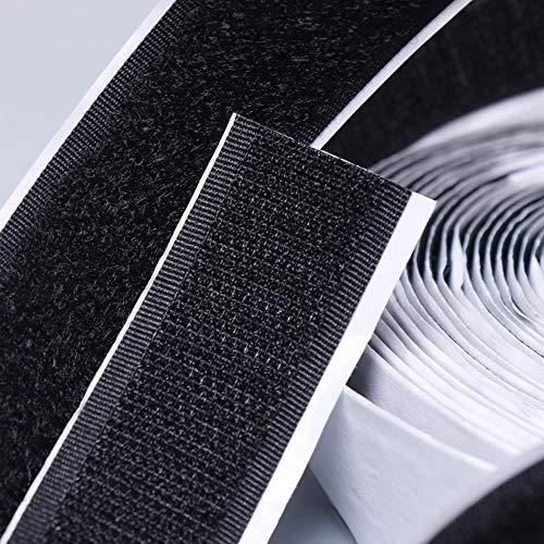 12 meter zwart wit klittenband zelfklevende sluitingstape magie nylon sticker lus schijven klittenband met lijm 16/20/25/30/50 mm, wit 25 mm 12 meter