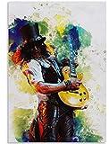 ggggx Rompecabezas 1000 Piezas Montaje de Madera Imagen Guitarrista GNR Póster Juegos para Adultos Juguetes educativos Rompecabezas de Juguete Educativo clásico 38 * 26cm
