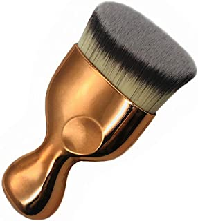 Flat Angle Foundation Brush High Density Face Body Kabuki Makeup Brush for Liquid Foundation Pressed Powder Cream Buffing Stippling Blending Concealer