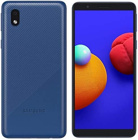 """Samsung Galaxy A01 Core (16GB) 5.3"""", 3000mAh Battery, Android 10, Dual SIM GSM Unlocked Global 4G LTE (T-Mobile, AT&T, Metro, Straight Talk) International Model A013M/DS (64GB SD Bundle, Blue)"""