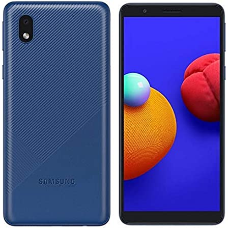 "Samsung Galaxy A01 Core (16GB) 5.3"", 3000mAh Battery, Android 10, Dual SIM GSM Unlocked Global 4G LTE (T-Mobile, AT&T, Metro, Straight Talk) International Model A013M/DS (64GB SD Bundle, Blue)"