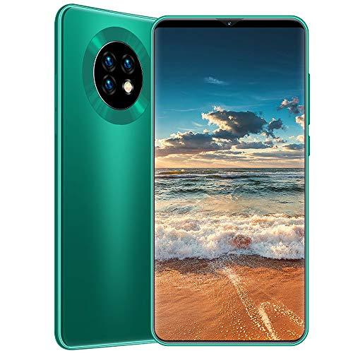 Teléfono Mate33 3G Dual SIM móvil 13MP 24MP 8GB 512GB desbloqueado Smartphone,6.1 pulgadas de pantalla gotas de agua, triple cámara, OTG, GPS, Cara reconocimiento de huellas dactilares (1 juego),Green