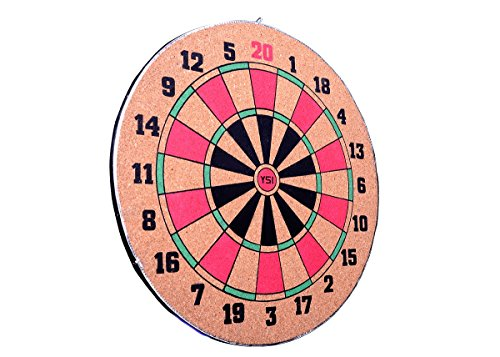 YSI 12-inch Dart Board with 3 Darts Set, Multi Color