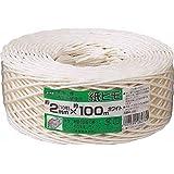 ユタカ 荷造り紐 紙ヒモ ♯10(約2mm)×100 ホワイト M1551