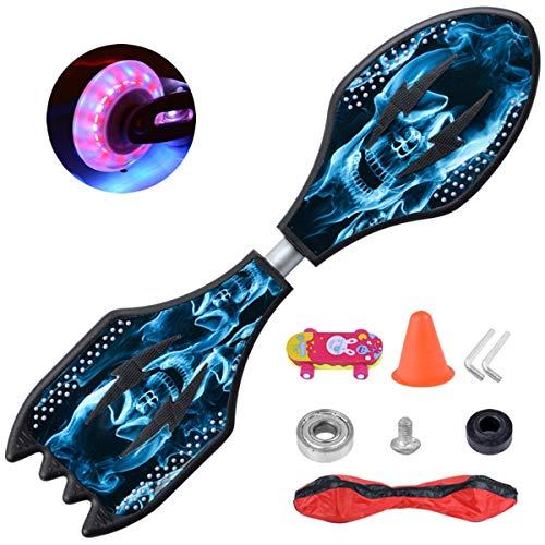 Grist CC Waveboard Skateboard Komplettboard mit LED Leucht-Rollen für Jugendliche Kinder
