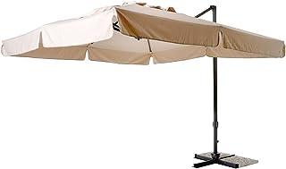 Uniprodo Ombrellone da Esterno Grande Ombrello da Giardino Uni/_Umbrella/_MR270CR Crema, Esagonale, /Ø 270 cm