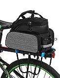 Lixada 25L Sacoche Pochette Multifonctionnel pour Arrière Vélo du Siège Transport Sac à vélo comme Sac à Main et Sac à bandoulière
