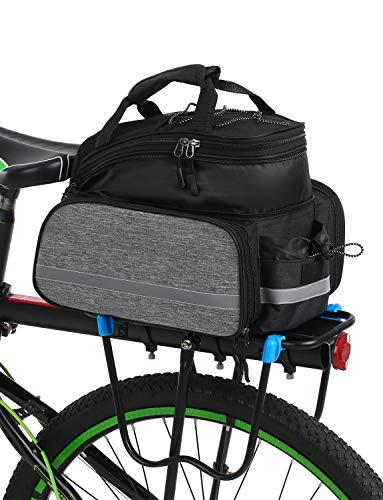 Lixada Fahrradtaschen Gepäckträger Wasserdichtes MTB-Fahrrad Packtasche Tasche Fahrradträger Tasche Mit Regenschutz