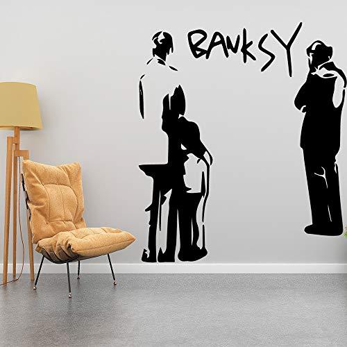 yaonuli Fun bank karakter muurschildering verwijderbare muurstickers voor kinderkamer woonkamer huis decoreren kamer