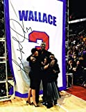 Signed Ben Wallace Photo - 11X14 JERSEY RETIREMENT COA - Autographed NBA Photos
