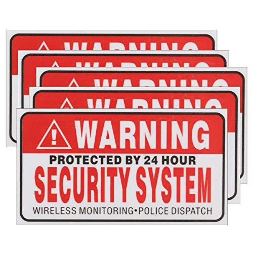 Raitron 5 Stks Zelfaangrijpende Camera CCTV Sticker Veiligheid Tekenen Decal Beschermd door 24 uur Beveiligingssysteem