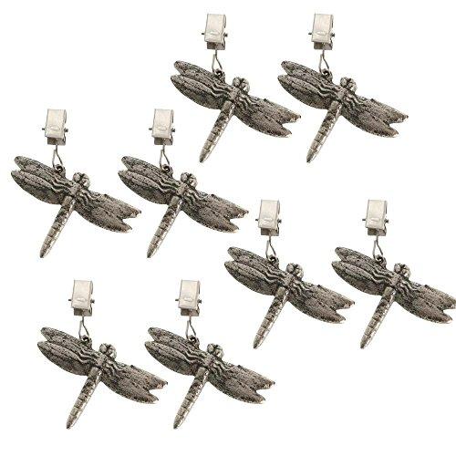 ToCi Lot de 8 poids pour nappe en forme de libellule