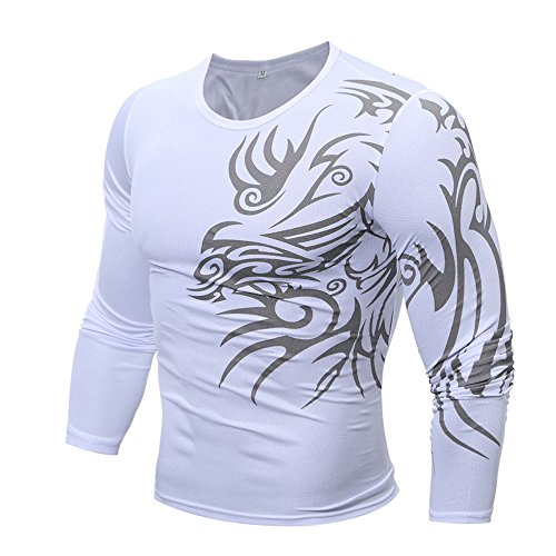 Price comparison product image Anewoneson Men's Thermal Wintergear Compression Baselayer Mock Long Sleeve Shirt White