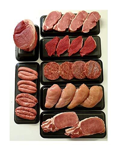 Extra Value Bargain Family Meat Hamper Pack Bulk Buy Pork, Steak, Sausage, Bacon, Chicken, Beef Burgers, Gammon Joint Fresh Modern Family Buy