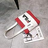 Bolsa De Hombrobolso De Lona De Un Solo Hombro Para Mujer, Bolso De Colegiala Cruzado A Juego Con El Color-Rojo 30 * 29 * 6 Cm